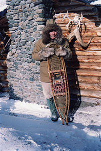 Dick Proenneke used snowshoes to get around in Winter